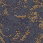 "Tassotti Paper- Printed Marble Blue-Gold 19.5""x27.5"" Sheet"