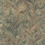 """NEW!"" Handmade Italian Marble Paper- Green, Brown, & Black Butterfly 19.5 x 27"" Sheet"
