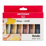 Standard Series Acrylics Metallic Set 6 × 20 ml