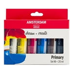 Standard Series Acrylics Primary Set 6 × 20 ml