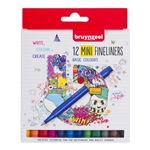Bruynzeel College Fineliner mini set 12 colours