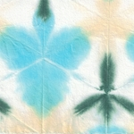 Itajime Shibori Flower Paper from Japan- Turquoise, Forest, Yellow