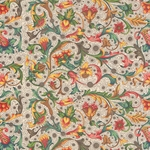 Carta Varese Florentine Paper- Cherries, Clementines, and Flower Filagree 19x27 Inch Sheet