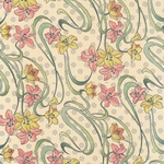 Carta Varese Florentine Paper- Flourished Lillies 19x27 Inch Sheet