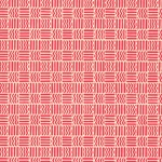 Carta Varese Florentine Paper- Red Lines and Zig Zags in Squares 19x27 Inch Sheet