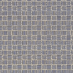 Carta Varese Florentine Paper- Blue Lines and Zig Zags in Squares 19x27 Inch Sheet