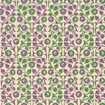 Carta Varese Florentine Paper- Green and Purple Floral Vine 19x27 Inch Sheet
