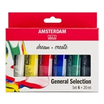 Amsterdam Acrylics General Selection Set 6 × 20 ml