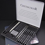 Cretacolor Black Box Charcoal Set