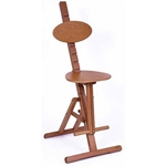 Mabef Adjustable Wooden Stool - Imported from Italy! (M/44)
