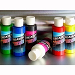 Createx Airbrush Color Starter Sets - Six 2 oz. Bottles (Transparent or Opaque)