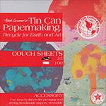 Arnold Grummer Tin Can Papermaking Couch Sheets 6x6 Inch