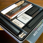 Prismacolor 24 Piece Charcoal Sketching Set