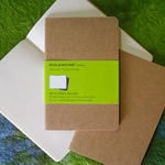Moleskine Cahiers Kraft Cover - Three 3.5 x 5.5 Inch Plain Journals