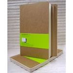 Moleskine Kraft Cover - Set of 3 Plain Journals 5-1/8 x 8-1/4 Inches