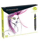 Prismacolor Art Marker - Brush Marker Set Of 12 Primary Colors