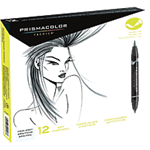 Prismacolor Art Marker - Brush Marker Set Of 12 Cool Gray