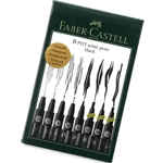 Faber Castell - Pitt Artist Pen Black Set of 8