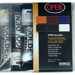 Golden OPEN Acrylic Traditional Color Set of 6 22ml Tubes