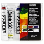 Golden Heavy Body Acrylic Introductory Set of 6 Tubes