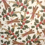 "ROSSI Holly and Cinnamon Fine Art and Gift Wrap Paper 28""x40"" Sheet"
