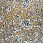 Rossi Decorative Paper from Italy- Flowers on Metallic Gold 28x40 Inch Sheet