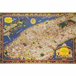 "Cavallini Decorative Paper - Map of Manhattan 20""x28"" Sheet"