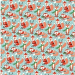 Holiday Fox Paper- 19x26 Inch Sheet