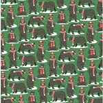Holiday Bears Paper- 19x26 Inch Sheet